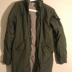 Boys Large Army Green Jacket
